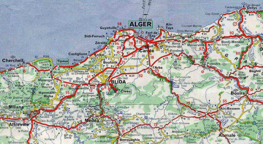 Carte Algerie Blida.Algerie Blida Plans Et Cartes Blida Mitidja Vignettes